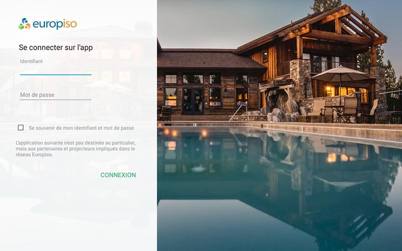 Page de connexion a iso app