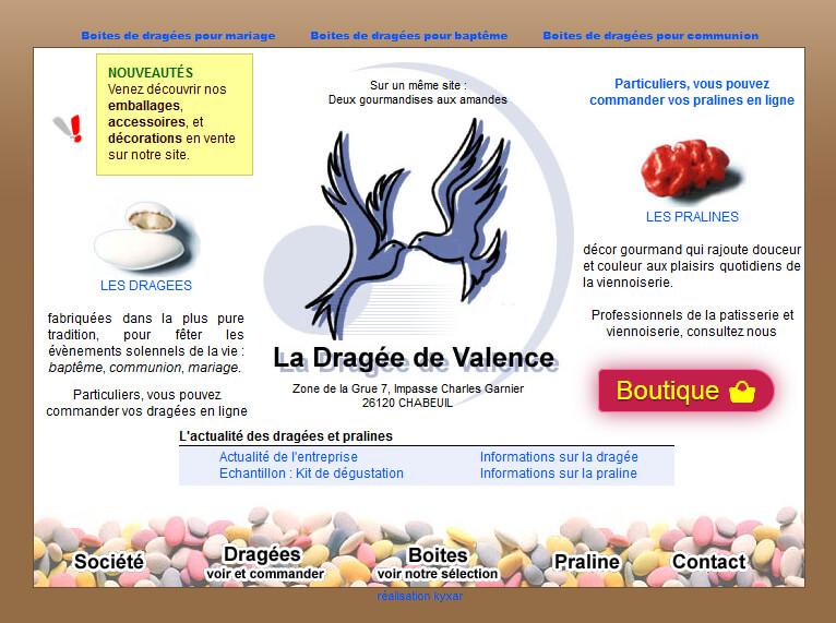 cf5bc763da6 Boutique 2000.  Site web ecommerce La Dragée de Valence ...