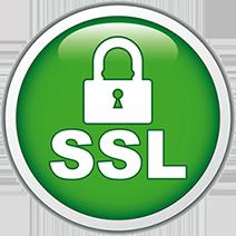 Logo du certificat SSL, sécurité